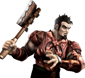 File:Jarek with his Kick Axe.png