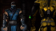 Sub-Zero Encounters Cyrax