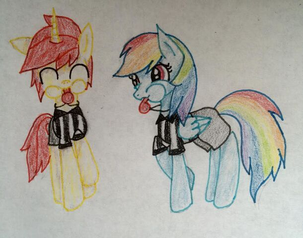 File:FANMADE Crismon Azure with Rainbow Dash OC.jpg