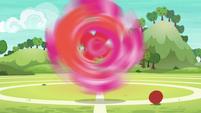 Pinkie Pie spinning around and around S6E18