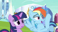 Rainbow Dash looks of it S3E12