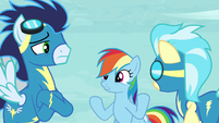 Soarin and Misty Fly sees Rainbow S5E15