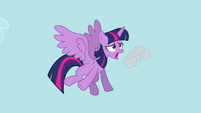 Twilight coughing up cloud S4E01