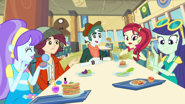 File:Canterlot High School fashionistas EG.png