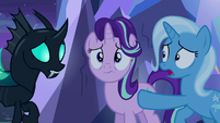 Thorax and Trixie in worried surprise S6E25