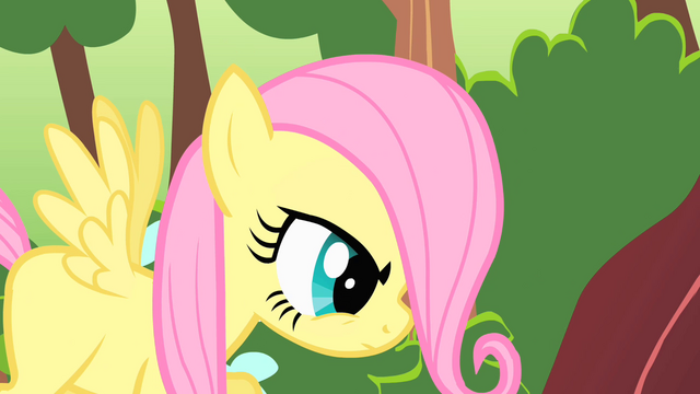 File:Fluttershy filly looking stern S01E23.png