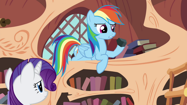 "File:Rainbow Dash ""it's a kind of rock"" S4E18.png"