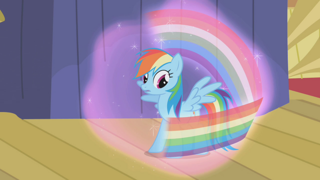 File:Rainbow about to fall under Trixie's spell S1E06.png
