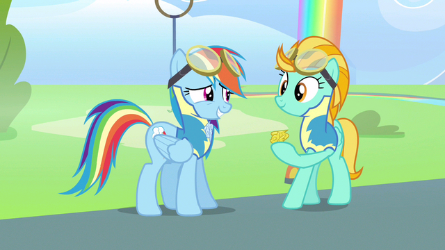 File:Rainbow Dash hey not bad S3E7.png