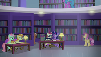 Twilight and Moon Dancer about to argue S5E12