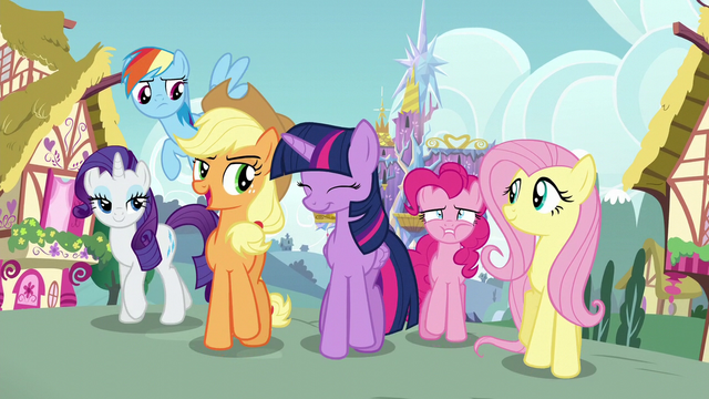 "File:Applejack ""Shining Armor liked his surprise?"" S5E19.png"