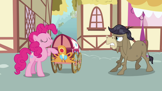 File:Pinkie Pie, Cranky, and welcome wagon S02E18.png