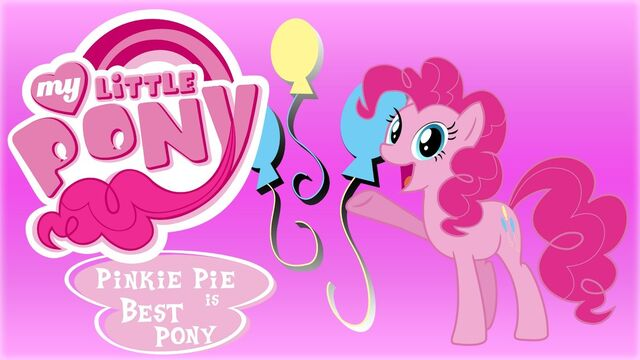 File:FANMADE Wallpaper Pinkie Pie is best pony by barrfind.jpg