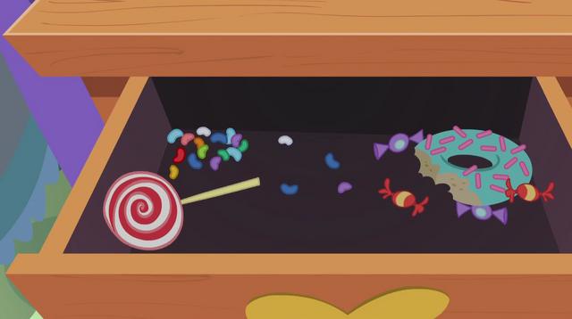 File:Pinkie's dresser full of leftover junk food EG2.png