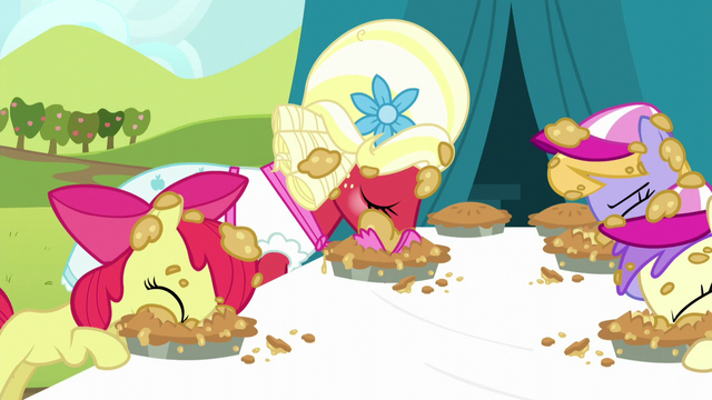 File:Apple Bloom and Orchard Blossom eating pies S5E17.png