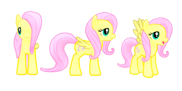 File:My little pony mobile game Fluttershy Model.png
