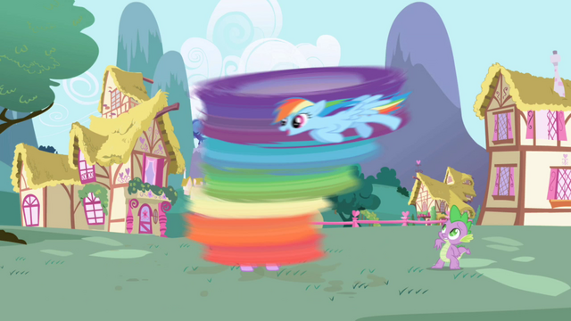 File:Rainbow Dash cleaning Twilight S1E01.png