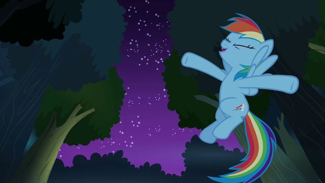 File:Rainbow Dash geeking out S4E04.png