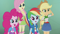 Rarity's friends impressed EG2