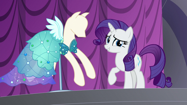 "File:Rarity ""you might possibly wear this tonight"" S5E14.png"