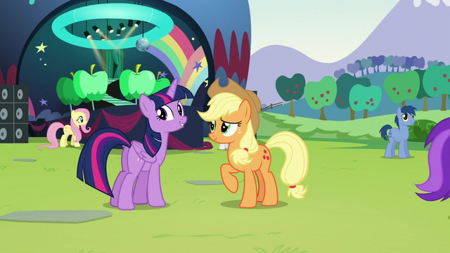 "File:Twilight ""Are you sure you've never managed a concert before?"" S5E24.png"