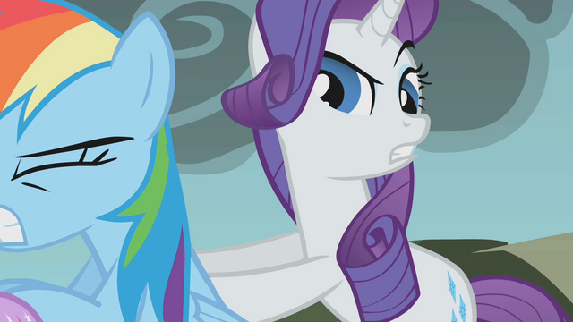 File:Rarity pushing Fluttershy S01E07.png
