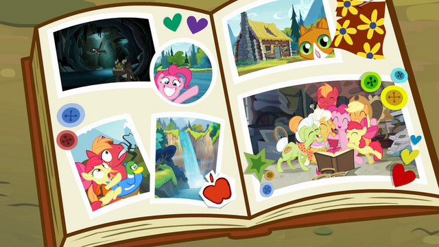 File:Scrapbook containing the family pictures S4E09.png