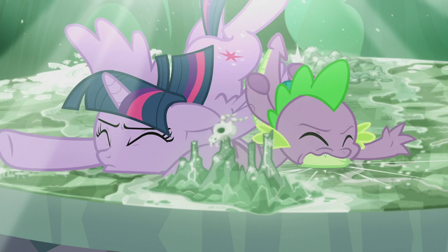 File:Twilight and Spike fall onto the Cutie Map S5E25.png