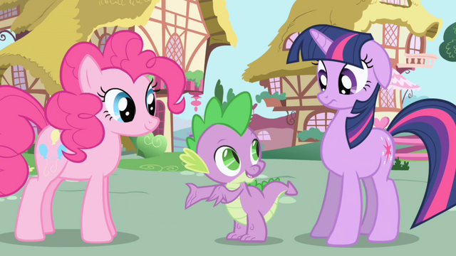 File:Spike tells Twilight to try talking to Pinkie S1E01.png