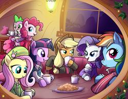 File:FANMADE mane six and hot chocolate.jpg
