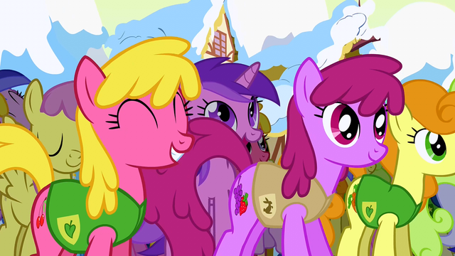 File:Ponies inspired by Mayor Mare's speech S1E11.png