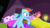 Rainbow Dash hits Scootaloo S3E06