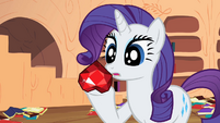 Rarity receive fire ruby S2E10