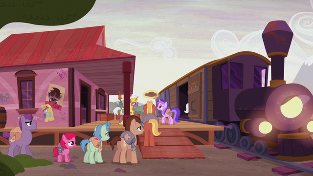 File:Distressed ponies boarding the train S5E25.png