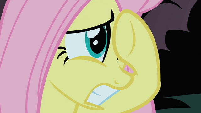 File:Fluttershy tries to cover her view of the Cockatrice S1E17.png