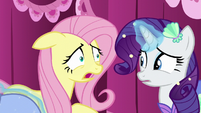 Fluttershy worries about tripping on her costume S5E21