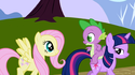 Fluttershy Twilight eyes S1E1