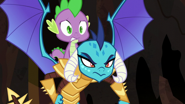 File:Ember determined; Spike nervous S6E5.png