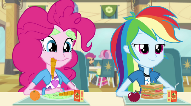 File:Rainbow and Pinkie listen to Sunset EG2.png