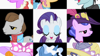 Ponies surround Rarity S2E09