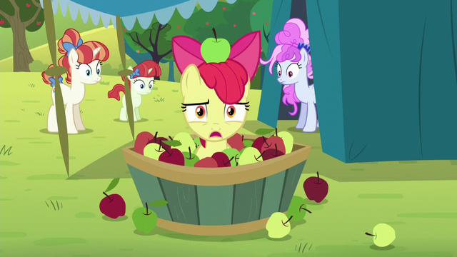 "File:Apple Bloom disinterested ""yay"" S5E17.png"