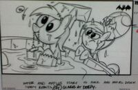 Leaked storyboard Derpy Hooves Rarity Luna Eclipsed
