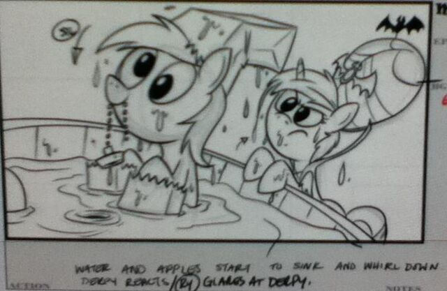 File:Leaked storyboard Derpy Hooves Rarity Luna Eclipsed.jpg