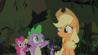 Applejack questions Spikes theory S1E15