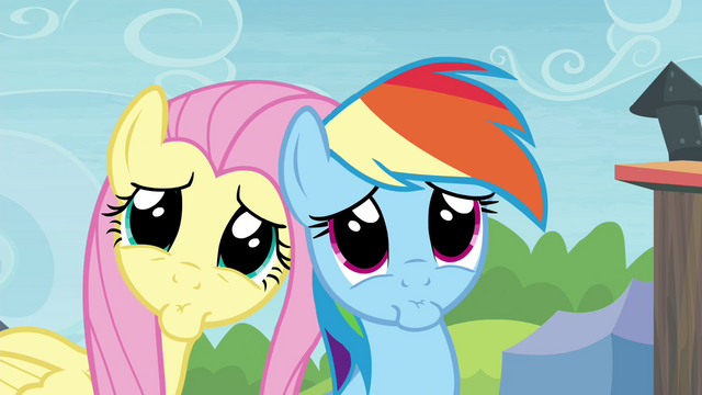 File:Rainbow Dash and Fluttershy pretty please S4E22.png