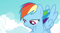 Rainbow Dash watching with disinterest S4E21