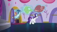 Rarity levitates her other dresses out of storage S5E14