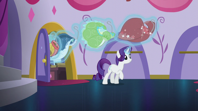 File:Rarity levitates her other dresses out of storage S5E14.png
