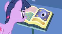 Twilight reading Mare in the Moon myth S1E01