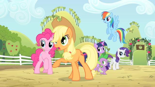 File:Applejack 'Have you lost your pest-lovin' mind' S4E07.png